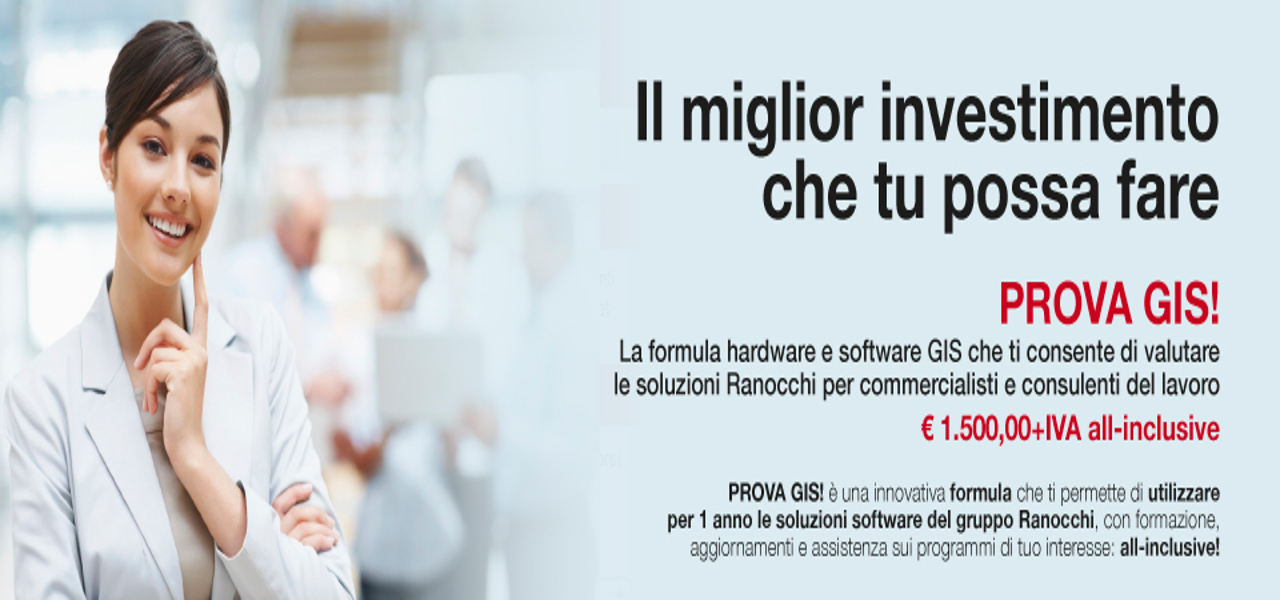 Prova GIS Software Contabilità e Paghe a 1500 euro tutto incluso, compreso il pc!
